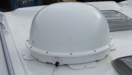 image of a motorhome satellite dome